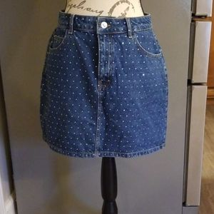 Topshop moto sequined skirt size 8